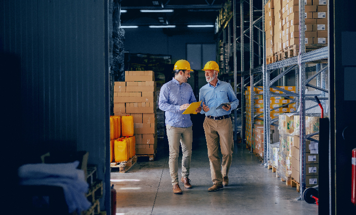 Business Owners in a Warehouse