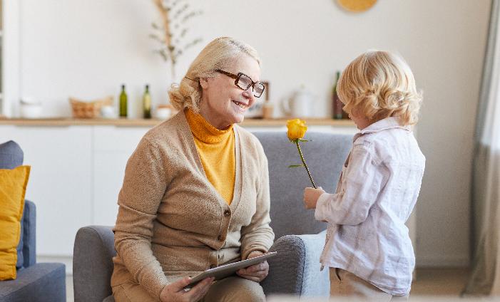 Grandma and grand-daughter Flower